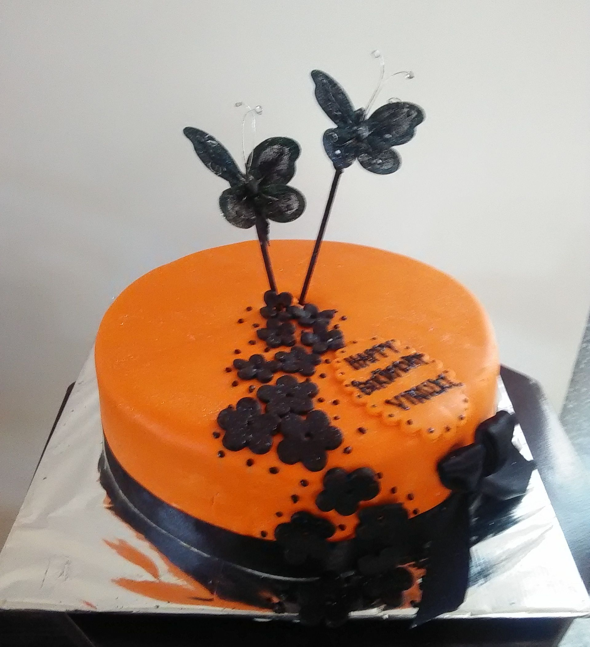 Twin Butterflys Birthday Cake Designed And Created By Yamuna Silva