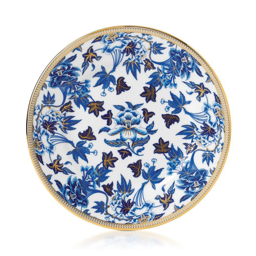 Wedgwood Hibiscus Salad Plate Blue dinnerware, Salad