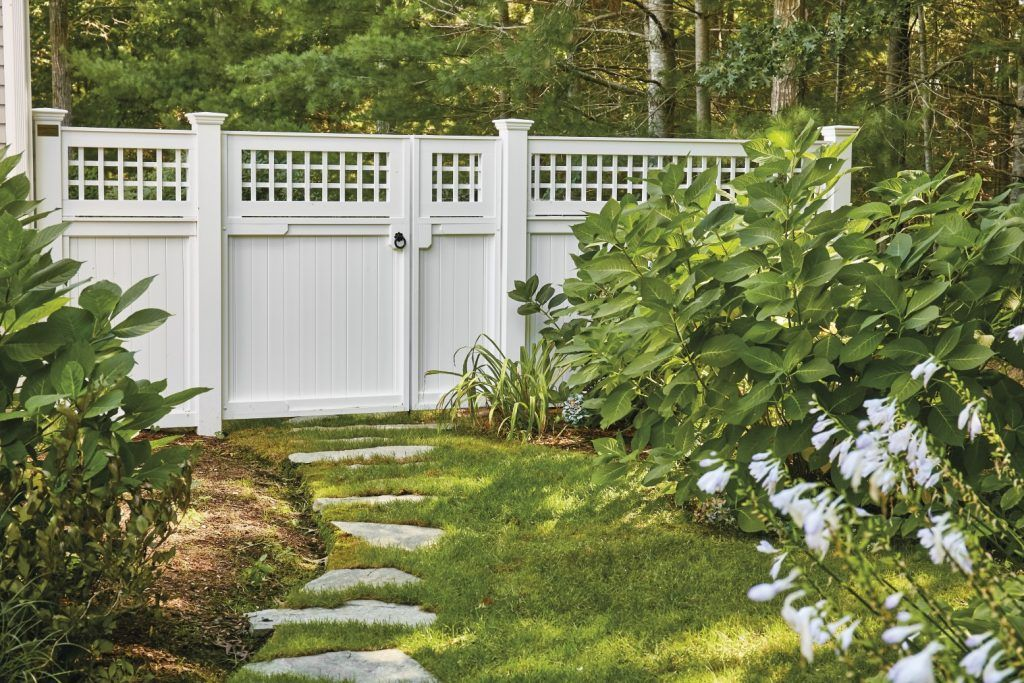 Interesting Asymmetrical Gate Alows For Easy One Gate Opening For People And A Wider Double Gate Option For Ga Railings Outdoor Lattice Garden Garden Tool Shed