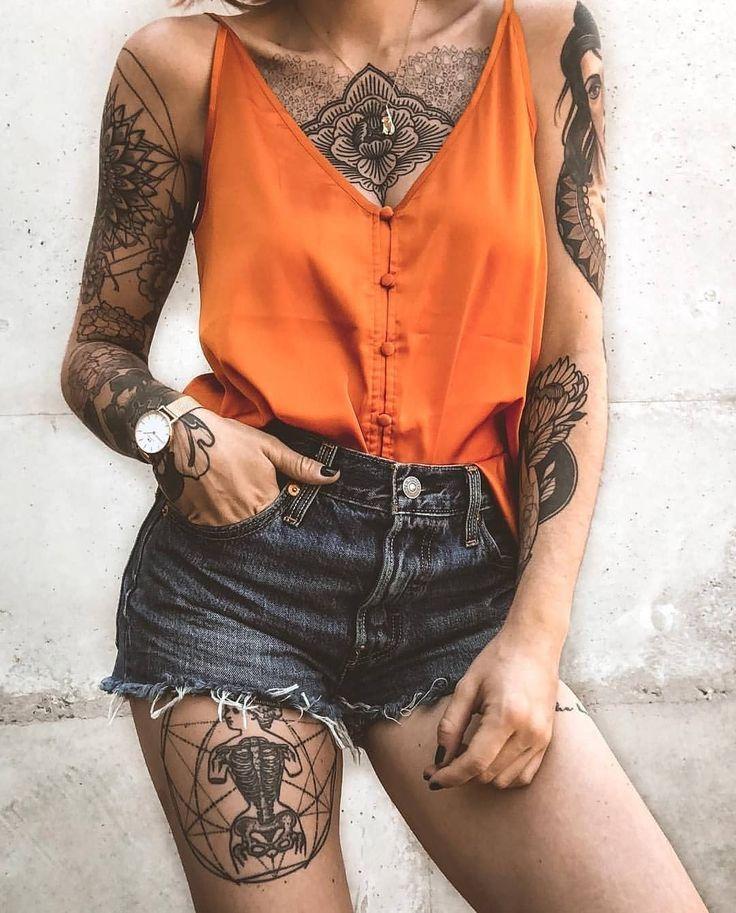 Beautiful photos of tattoo models -