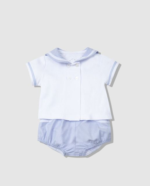 a2e730780 Conjunto marinero de bebé niño Dulces dos piezas | A ROPA DE NENE ...
