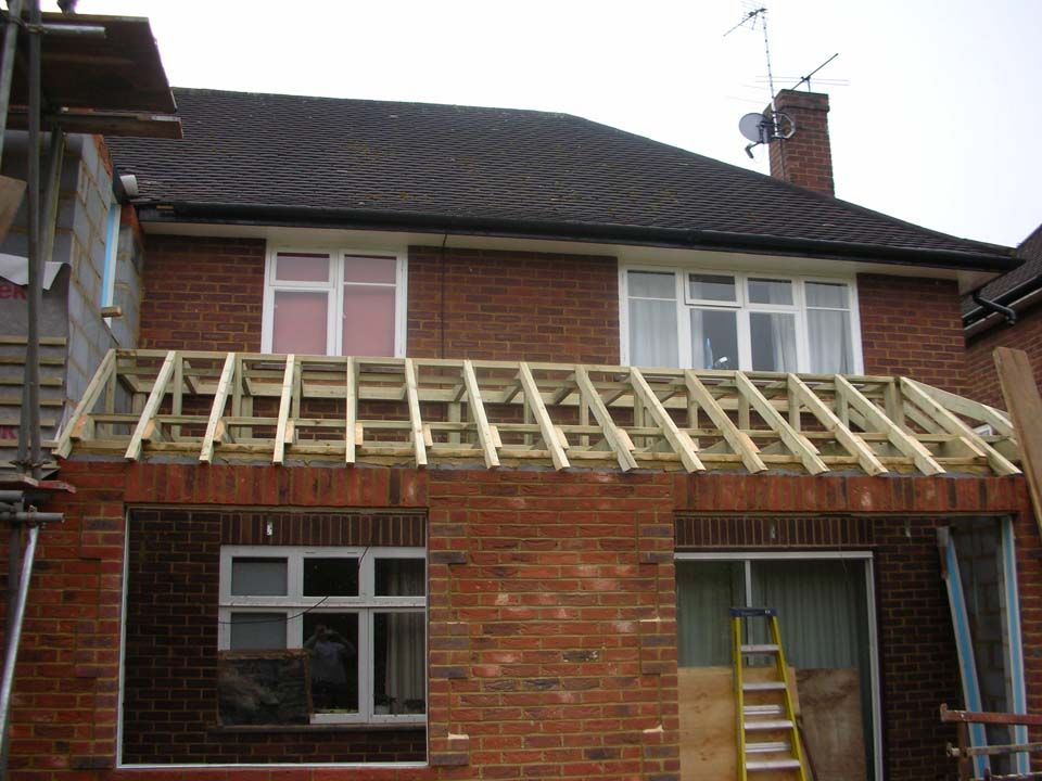 Flat then pitched roof | Roof extension, Pitched roof ...