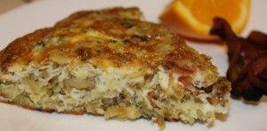 Hashbrown and Bacon Frittata Recipe #baconfrittata