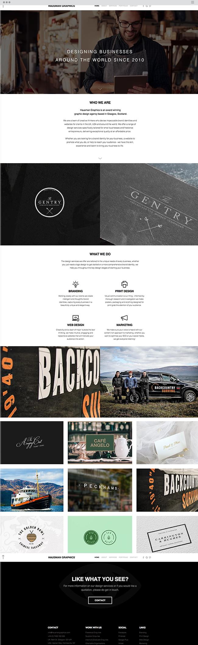 Hausman Graphics Graphic Design Agency Web Design Agency Wix Website Design Web Design