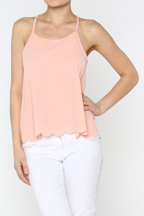 Pink Scalloped Bottom Tank (With images) My style
