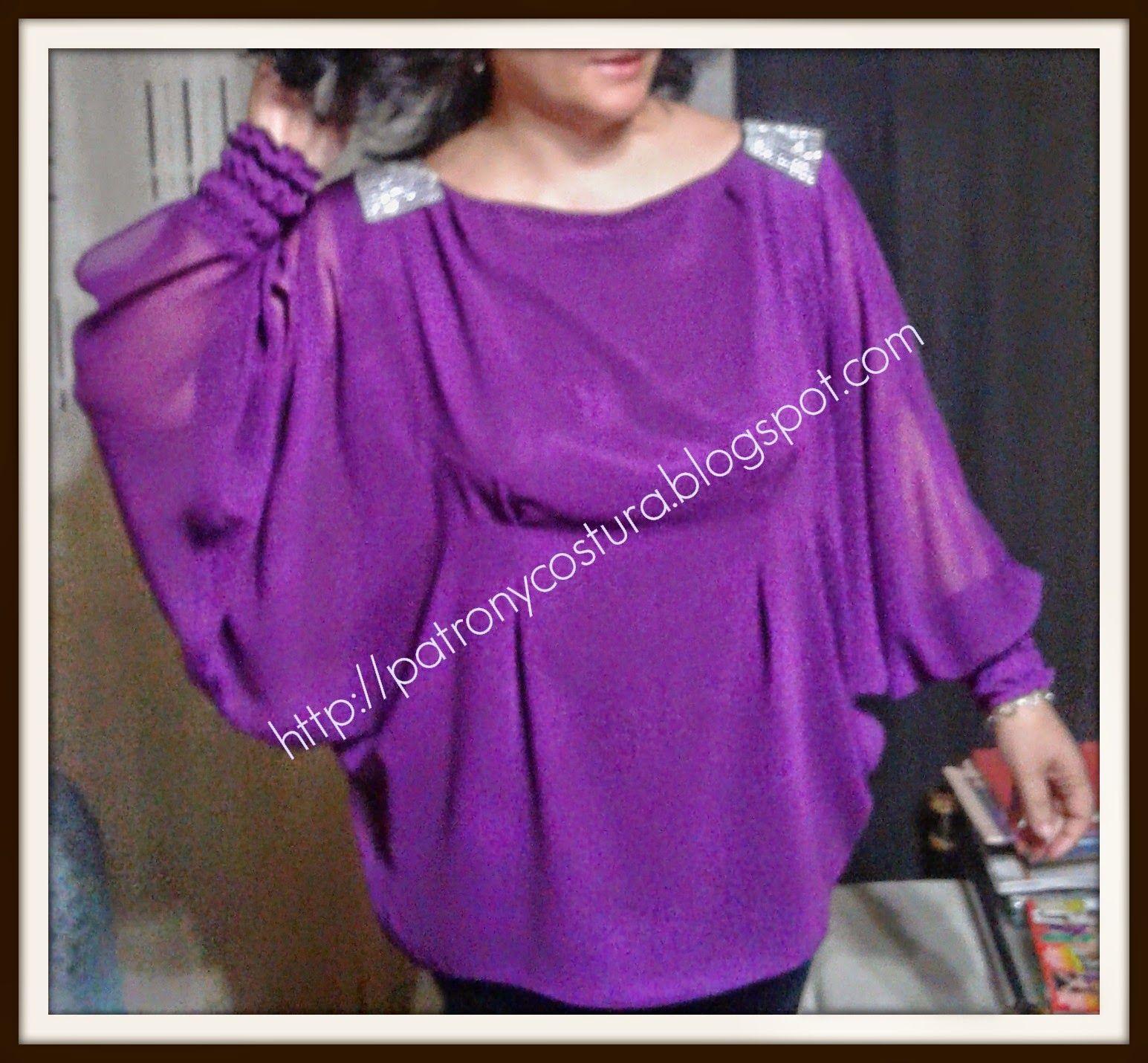 patrón y costura : diy-blusa manga murciélago-confección- cosemos ...