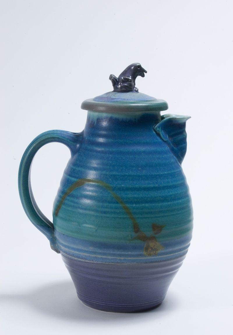 Arts Turquoise Teapot--Cynthia Bringle