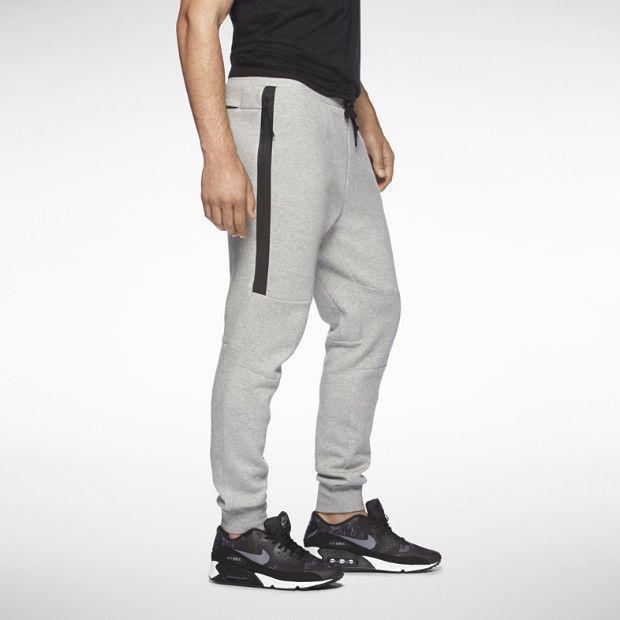 NIKE TECH PACK men's slim tapered fit gray fleece sweatpants track pants M  NEW