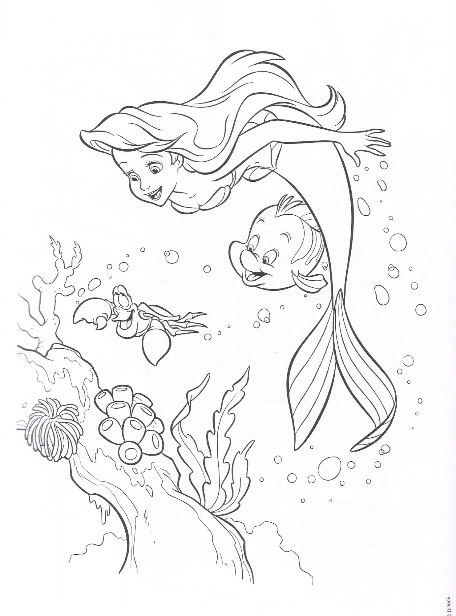 Free Little Mermaid Coloring Pages | Coloring pages | Pinterest ...