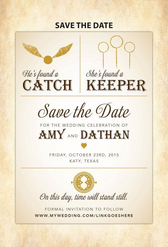Harry potter save the date diy printable harry potter e casamento stopboris Image collections