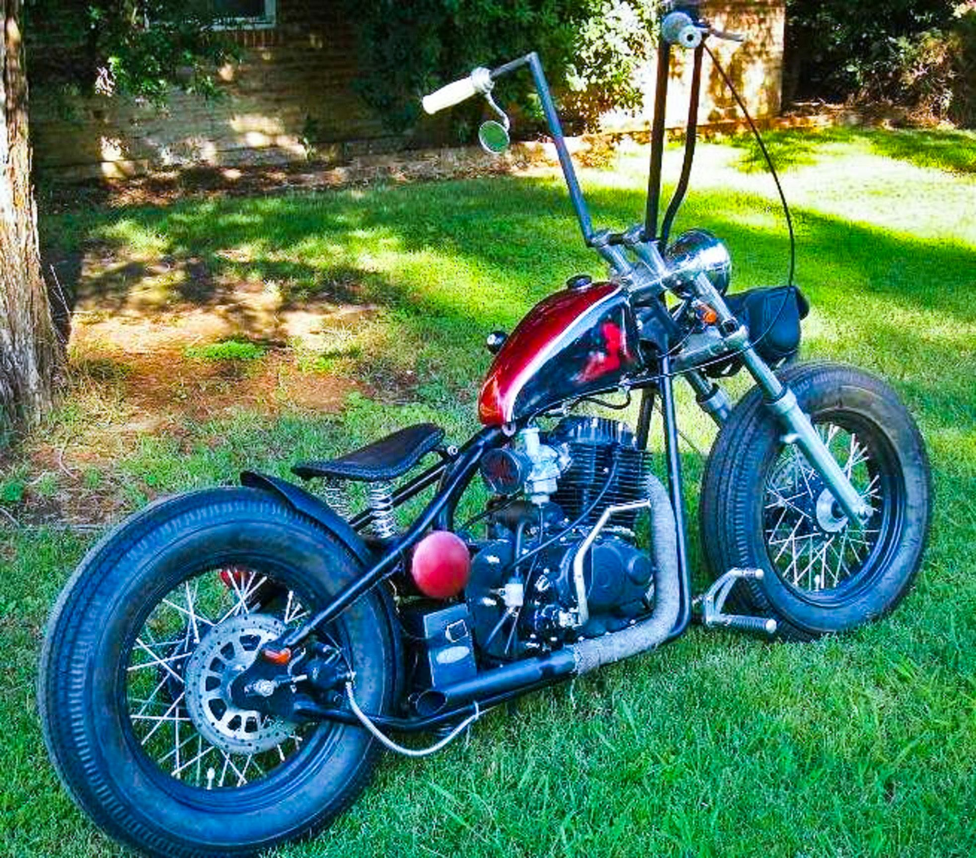 A 200cc HK-I Kikker 5150 Hardknock with Custom Ape Hangers ... Bobber Motorcycle With Ape Hangers