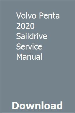 Volvo Penta 2020 Saildrive Service Manual Ovcastingtec