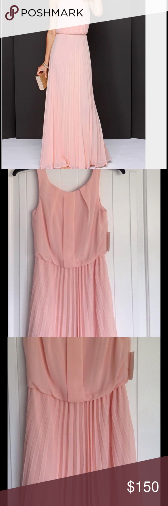 Blush pink pleated dress Gently worn pleated dress absolutely ...