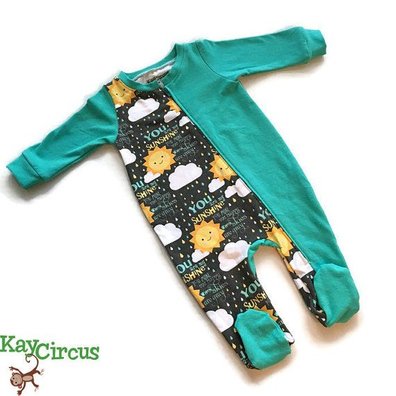 You are my Sunshine baby coverall  baby coverall  by KayCircus