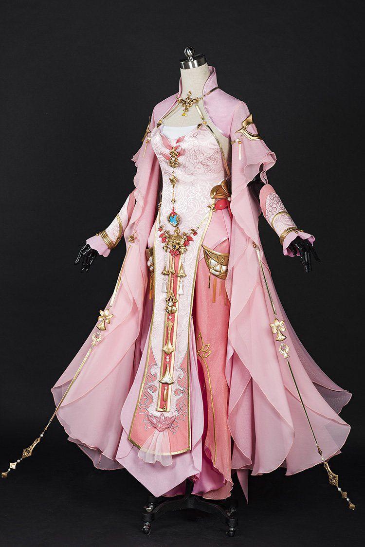Photo of Pink Woman Xue He Ba Dao Jian Wang III Adult Female Qi Xiu Group Anime Cosplay Costume Hanfu Female Full Set DHL free shipping