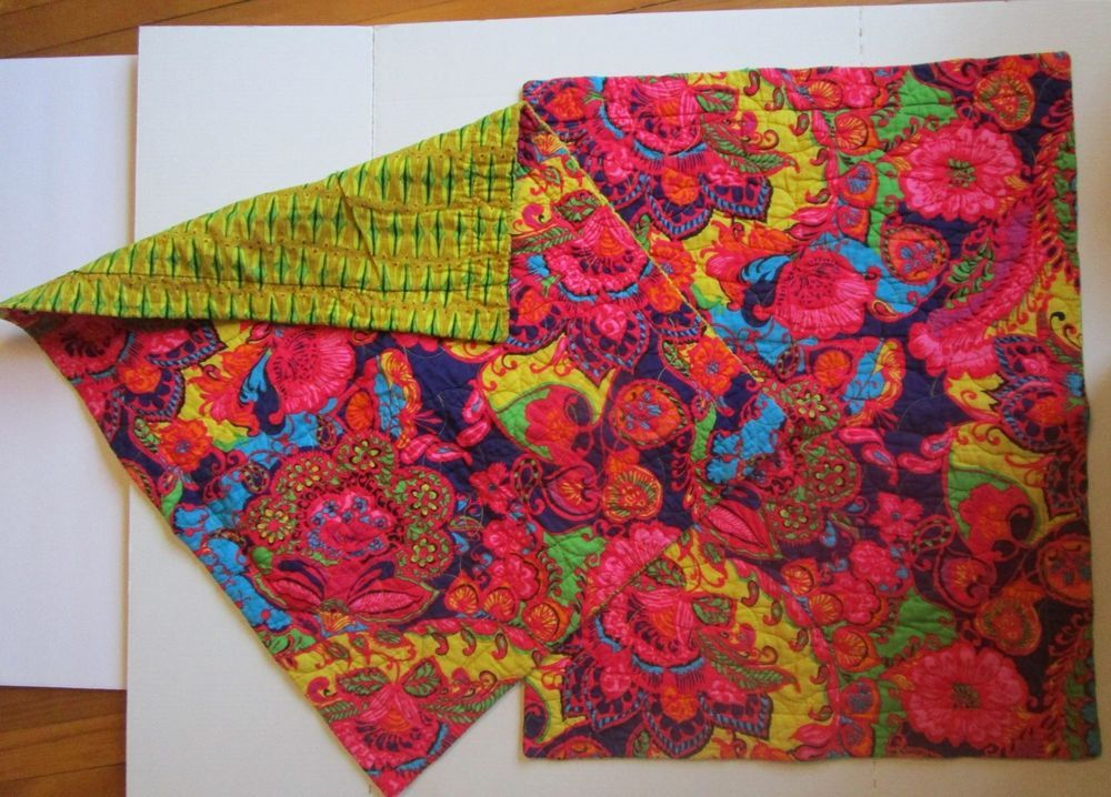 Cynthia Rowley Quilted Paisley Pillow Shams Lot Of Hot Pink Red Blue Yellow Cynthiarowley Cottage Paisley Pillows Red Blue Yellow Hot Pink
