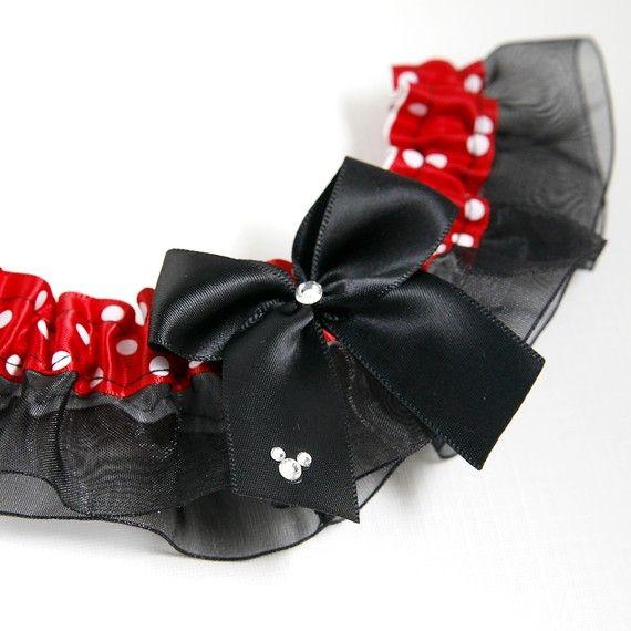Disney Wedding Garter Disney Princess Jasmine Tiana Alice In Wonderland Set or Single Garter