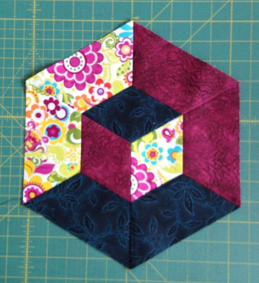 1016626 425474740893117 955174579 N Jpg 880 215 960 Tumbling Blocks Quilt Quilt Blocks Hexagon
