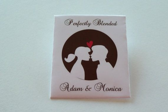 Personalised Tea Bags/PouchesWedding Favours by Personalissimo, $20.00