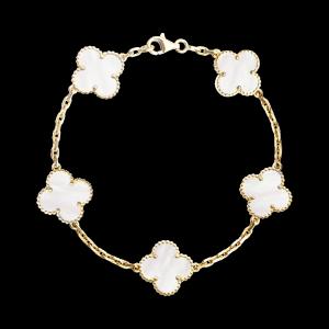 Vintage Alhambra Bracelet 5 Motifs Gold Vcara41800 Van Cleef