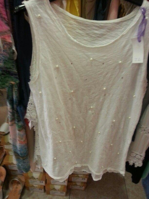 Camiseta perlitas