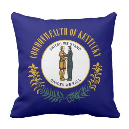 Kentucky Throw Pillow Zazzle Com Kentucky Flag Kentucky State Flag Kentucky