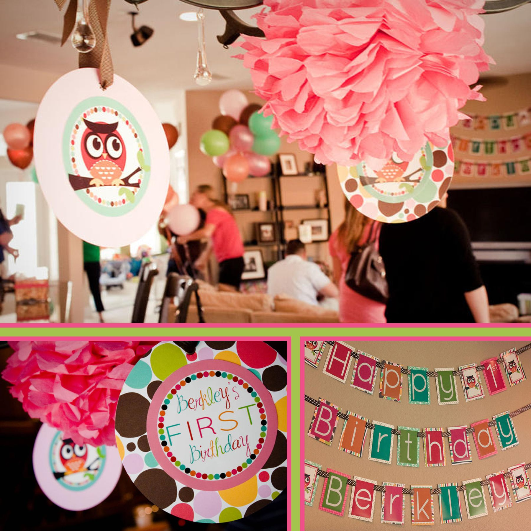 Decoration Stuff For Party Owl Birthday Decorations 1st Birthday Ideas Pinterest