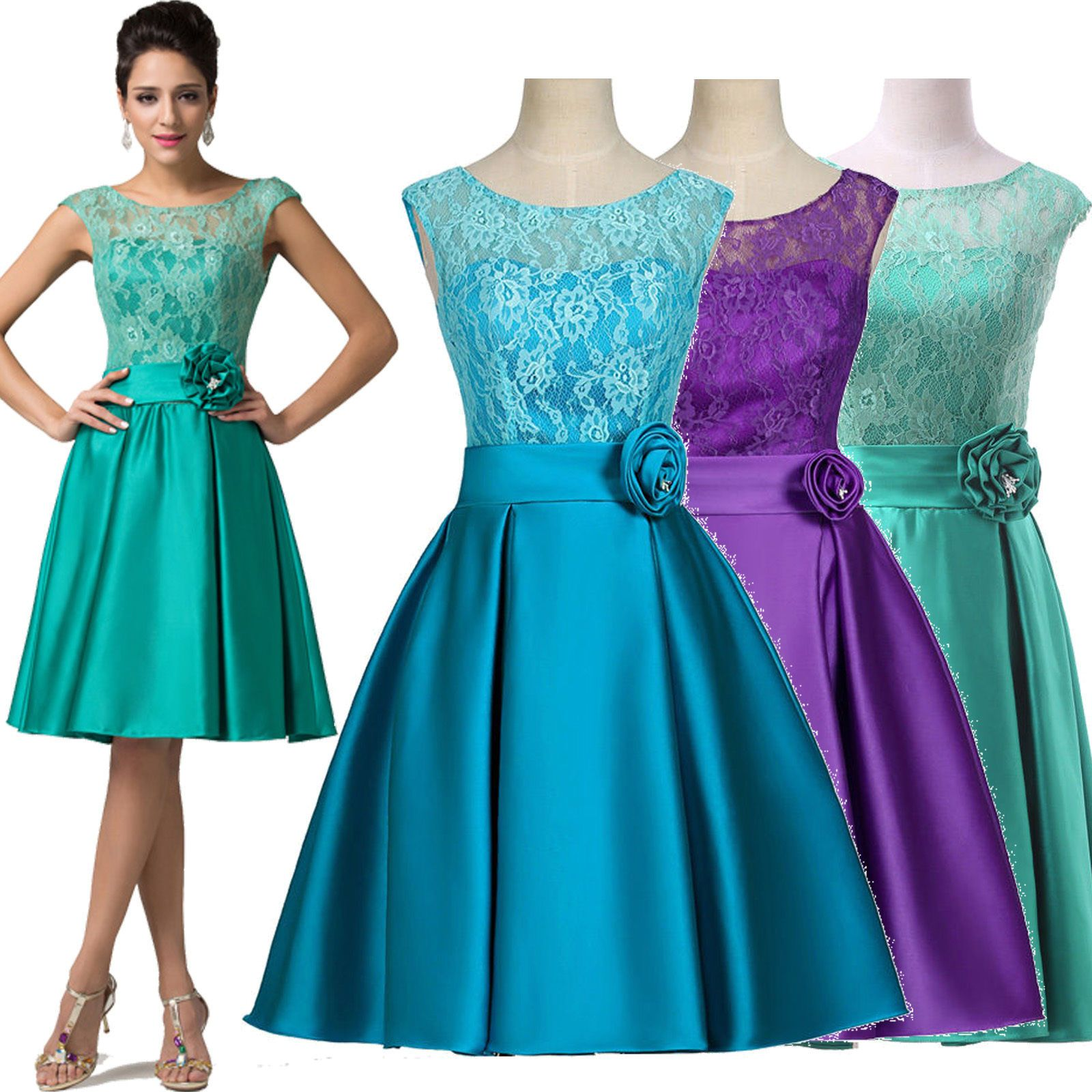 Lace short homecoming dress prom party cocktail dress graduation