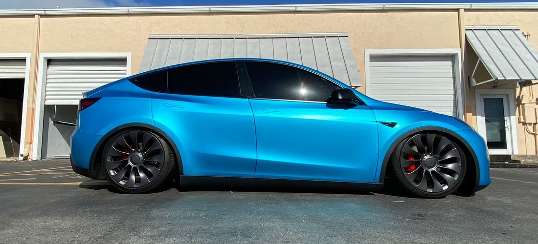 This Tesla Model Y Performance Looks Really Aggressive Tesla Model Tesla Model