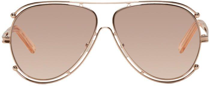ab0d72cf1cc5 Chloé Rose Gold Isidora Sunglasses