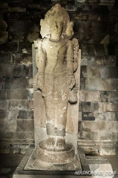 The four-headed statue of Brahma the god of creation