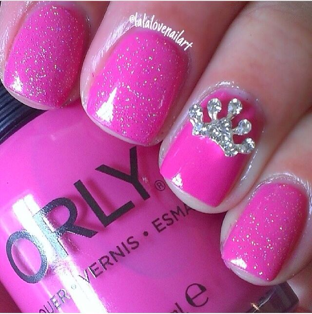 Princess Nails Mickeydisney Nails Pinterest Girl Birthday