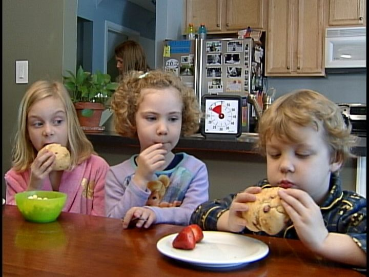 Are your kids picky eaters? A Time Timer in the kitchen helps them see how much time they have left to finish breakfast.
