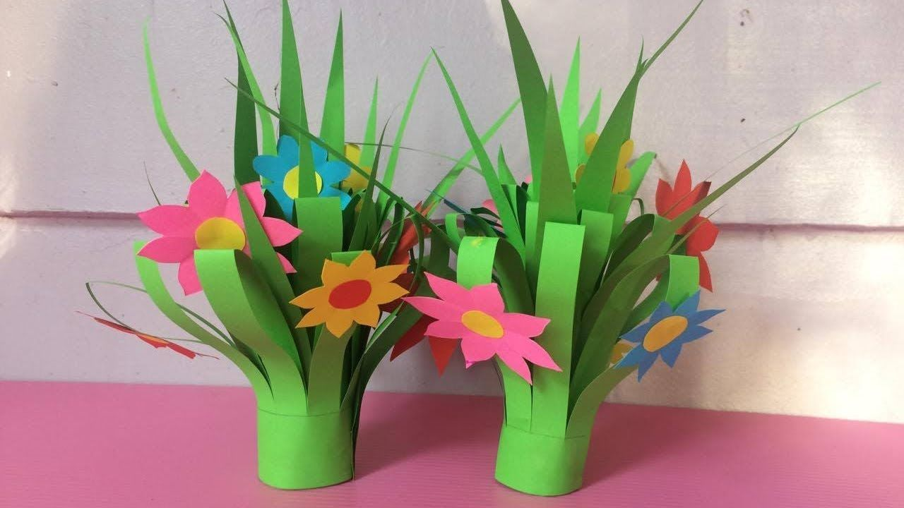 How To Make Flower Bouquet With Color Paper Diy Paper Flower