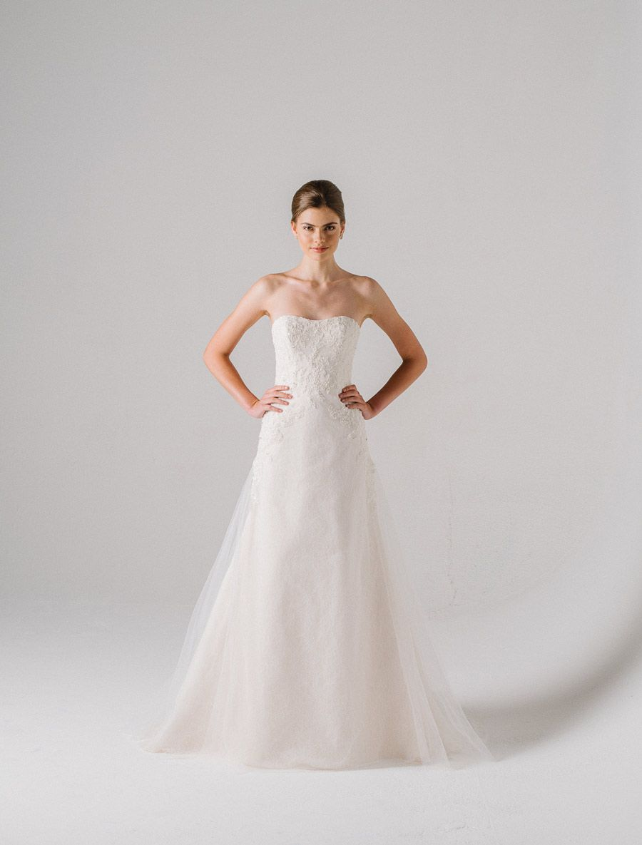 Anne Barge Camillia Wedding Dress Blue Willow