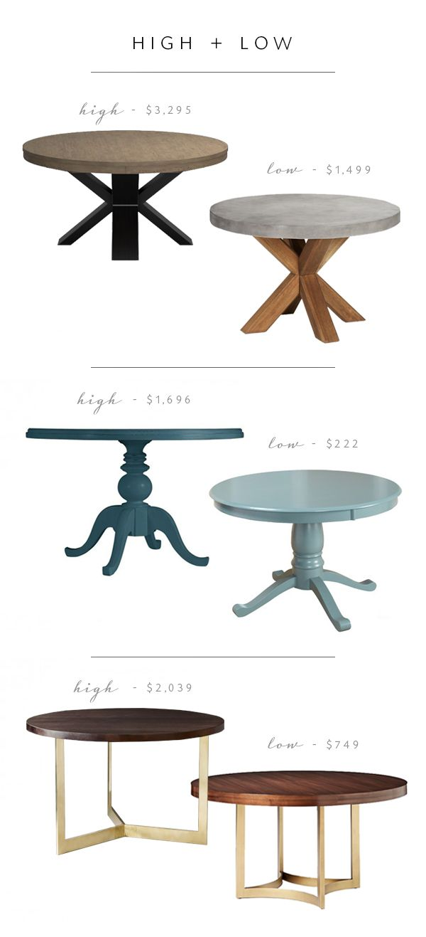 High Low Roundup Round Pedestal Dining Tables Picks