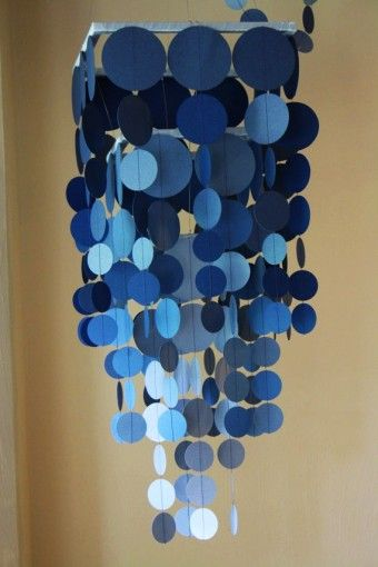 Wax Paper Chandelier 2014 diy blue ombre wax paper chandelier for holiday mobile 2014 diy blue ombre wax paper chandelier for holiday mobile hanger decoration loveitsomuch audiocablefo