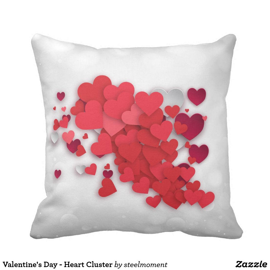 Valentine S Day Heart Cluster Throw Pillow Zazzle Com In 2021 Valentines Day Hearts Valentines Valentine Decorations