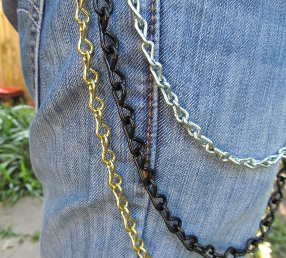 Jean Jewelry Jean Chains  Silver Black and by stevenssteampunk, $20.00
