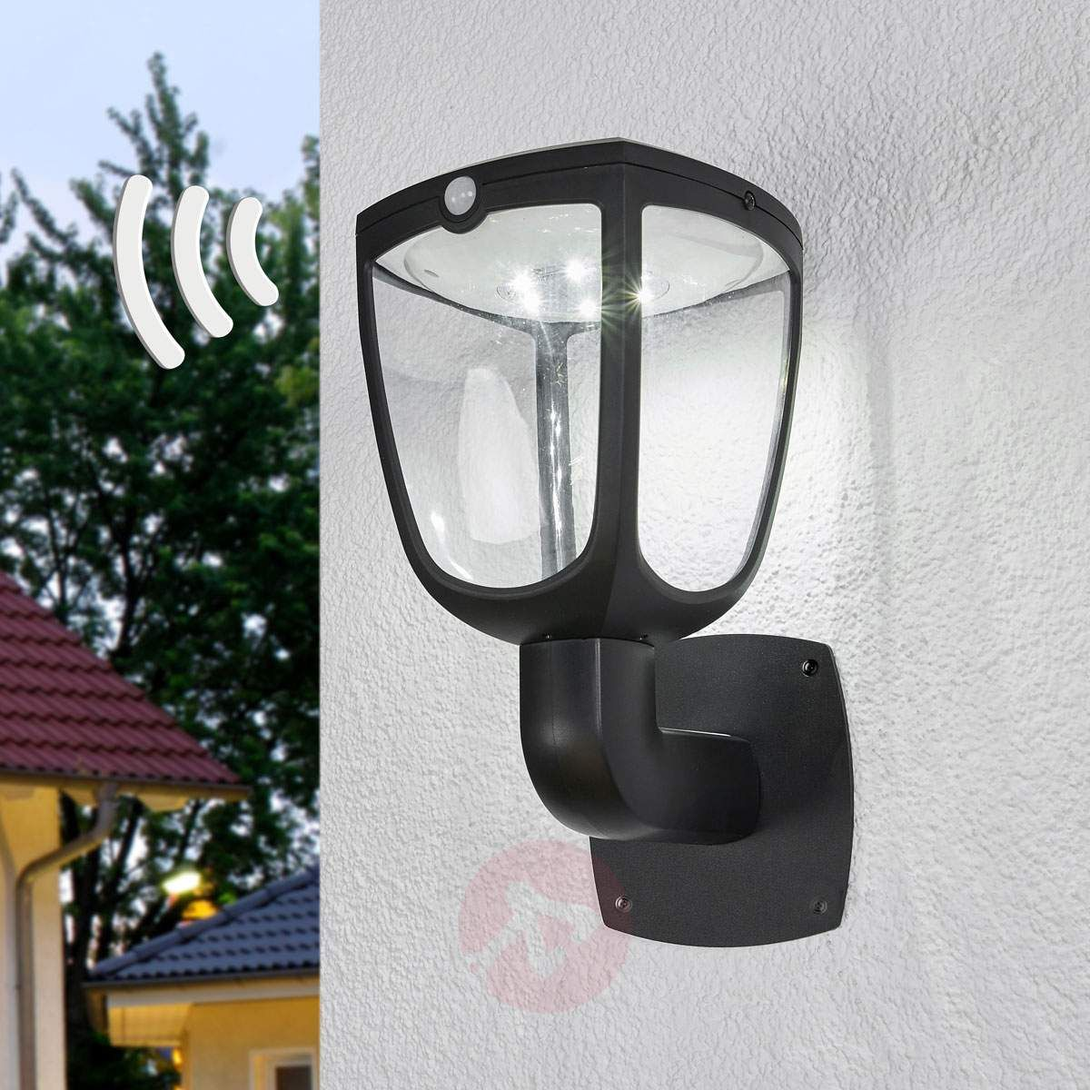 Solarna Lampa ścienna Led Henk Z Czujnikiem Lampy Solarne