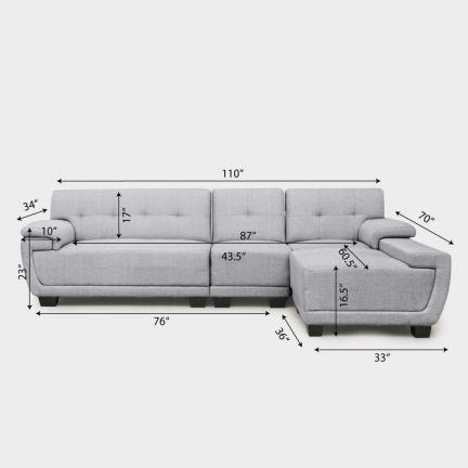 Fab Home Frederick L Shape Sofa Grey L Shape Sofas Living Room Sofa Design Corner Sofa Design Modern Sofa Couch