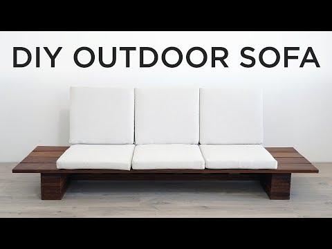 1 Diy Outdoor Sofa Youtube In 2020 Outdoor Sofa Diy Diy Outdoor Furniture Outdoor Sofa