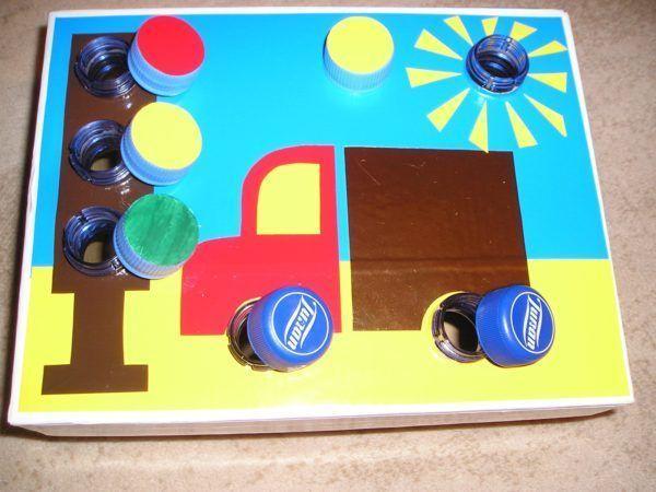Дидактический материал в виде автомобиля и