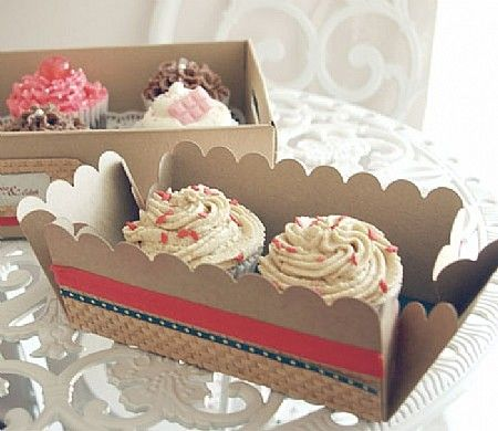 Decorative Cupcake Boxes Prepossessing Cupcake Boxes Decorated With Washi Tape  Getting Crafty With Design Decoration