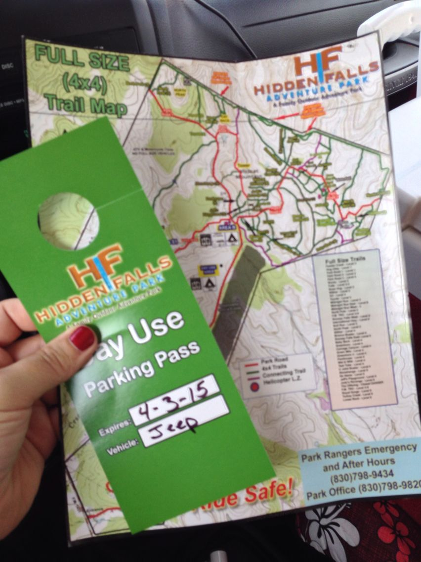 Hidden Falls Adventure Park Map And Hang Tag For Rearview Mirror A Pkayground For Jeeps Atv S Rzr S And Dirtbikes