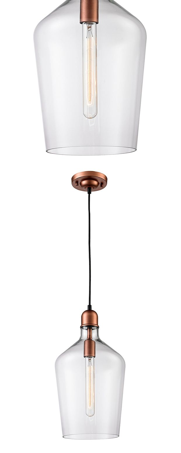 Bring a touch of old-fashioned style into your industrial or transitional living space with this stunning light pendant. Handsomely designed, this Nikolay Pendant Light features a gorgeous glass shade ...  Find the Nikolay Pendant Light, as seen in the A Magical Victorian Night Collection at http://dotandbo.com/collections/a-magical-victorian-night?utm_source=pinterest&utm_medium=organic&db_sku=114786