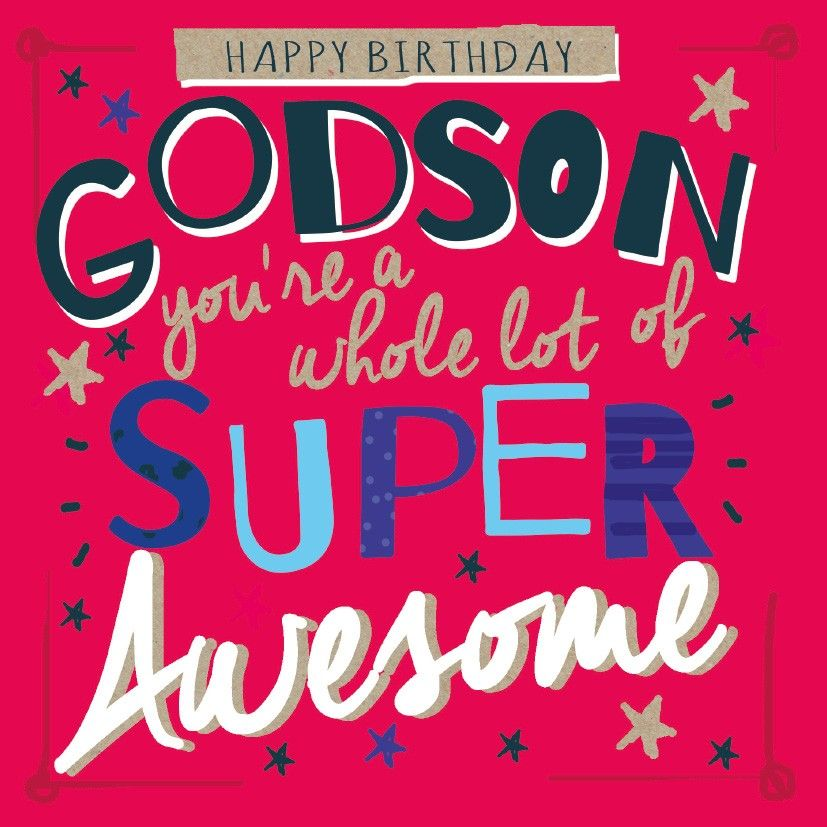An Godson Happy Birthday Card | jr | Happy birthday cards, Happy
