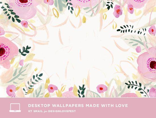 Dress Your Tech 39 D E S I G N L O V E F E S T Dress Your Tech Floral Painting Free Desktop Wallpaper