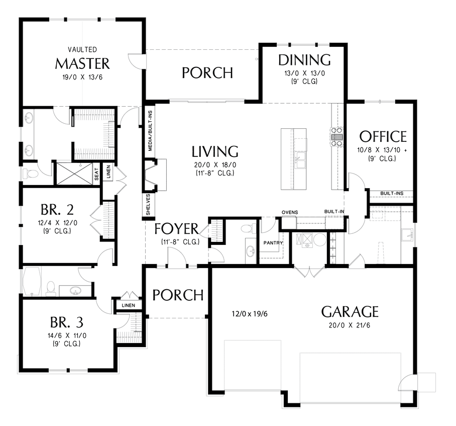 Mascord House Plan B1245c House Plan With Loft Floor Plans House Plans