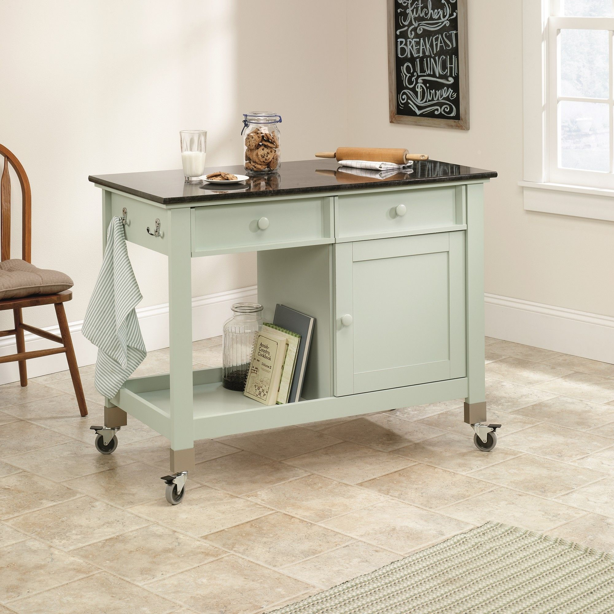 Sauder original cottage mobile kitchen island reviews wayfair